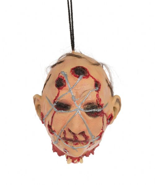Halloween Head with Barbed Wire Hanging Prop Trick Or Treat Fancy Dress Party